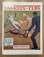 1932 WORLD SERIES BASEBALL PROGRAM NY YANKEES vs CHICAGO CUBS - OPIE 513/1000