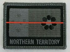 PAIR OF NTES NORTHERN TERRITORY FIREFIGHTERS THIN RED LINE  MORALE PATCHES
