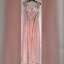 Blush Pink Prom Dress Size L New Evening Gown