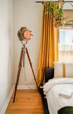 Vintage Nautical Spotlight Tripod Floor Lamp Emporia Decors  Office Decor