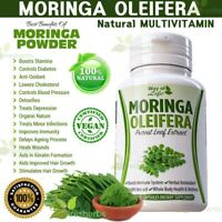 Moringa Oleifera Herbal MultiVitamin Stamina Hair Immunity Detox Supplement 60ct