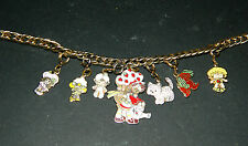 Vintage Strawberry Shortcake 1980 AGC 7 Charm Bracelet Jewelry Kenner RARE