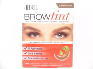 Ardell Brow Tint Light Brown No Ammonia No Peroxide Covers Gray 12 Applications