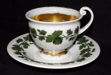 VINTAGE~MEISSEN~IVY PATTERN WITH GOLD ACCENTS CUP AND SAUCER~MUST SEE!