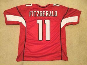 UNSIGNED CUSTOM Sewn Stitched Larry Fitzgerald Red Jersey - M, L, XL, 2XL