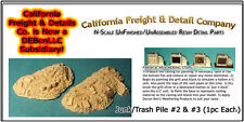 Junk/Trash Pile #2 & #3 (1ea) N/Nn3/1:160-Scale California Freight & Details NEW