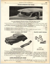 1949 PAPER AD Fulton Brand Car Auto Sunshield Sun Visor Comet Skyshield