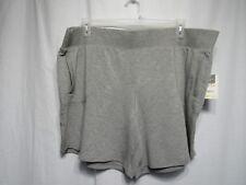 Terra Sky Shorts Sz 2x 20 22 Gray Elastic Waist Side Pockets Generous Fit