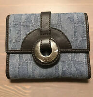 Furla Bifold Small Wallet Genuine Leather And Jeans New Vintage