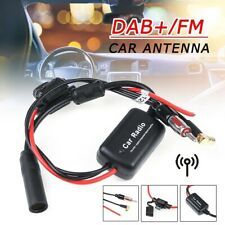 DAB+ FM Car Antenna Aerial Splitter Cable Digital Radio Amplifier Universal