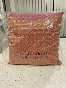 Stunning Anke Drechsel Silk & Velvet Cushions 2 Available Pink/Gold, Brand New!
