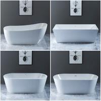 Freestanding Modern Baths Bathroom Square Round Bath Tub Acrylic Built in Waste