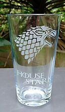 Game of Thrones House Stark Engraved Pint Glass
