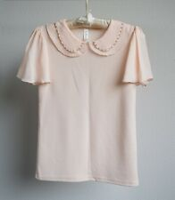 *BRAND NEW* Peach Pink Flowy Collared Blouse Top – Size S/M