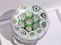 Vintage Murano Glass Paperweight Fratelli Toso Flower Bouquet Mosaic Tall