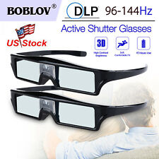 2pcs 3D DLP-Link Active Shutter Glasses 96-144Hz for Optoma/Sharp/Acer Projector