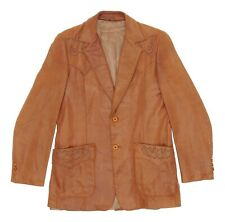 Vintage STETSON Leather Jacket S Small Mens Western Fancy Leather Jacket Blazer