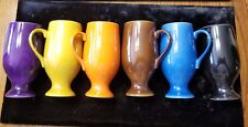 Schmid International, 6 Rainbow Color Diablo Expresso Cups/Saucers