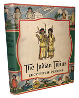 1930, First Edition, THE INDIAN TWINS, by LUCY FITCH PERKINS, IN THE ORIGINAL DJ