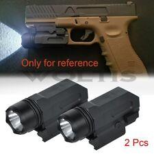 2 PCS Tactical Gun Flashlight Handgun Torch Light For Glock 17 19 18C Pistol US