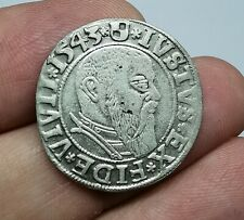 German States Brandenburg Prussia 1543 Albert Silver Groschen Coin