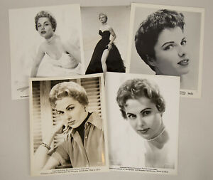 Collector's Lot of 5 Vintage Martha Hyer Hollywood Regency Glamour Photographs