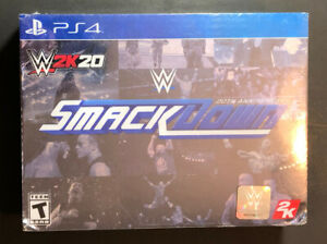 WWE 2K20 [ SmackDown 20th Anniversary Edition Box Set ] (PS4) NEW