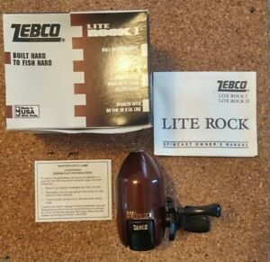 1995 Vintage Zebco Lite Rock I Spincast Fishing Reel Made in USA NOS!!!