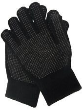 New Adults Magic Gloves with Palm Grip Black Non Grip Gloves Unisex One Size Fit