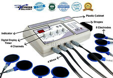 Prof.Plastic Electrotherapy Physical Therapy Machine 4 Ch Equipment Unit IKJHVD