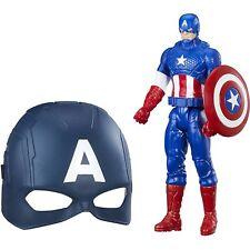 "Marvel Captain America Titan Hero Series - 12"" Figure with Child's Mask - NEW"