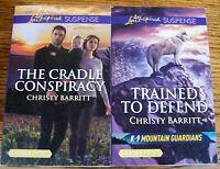 Love Inspired Suspense Series: 2-Book Set-By: Christy Barritt-LARGE Print
