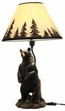 """Polyresin Standing Black Bear Surveyor Arkadius Desktop Lamp Decor Figurine 24""""H"""