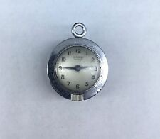 VINTAGE CORD FAB SUISSE LADIES PENDANT BALL / GLOBE NECKLACE WATCH NOT WORKING
