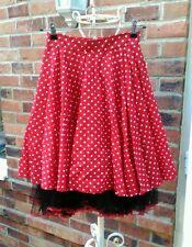 Phaze red white black polka dot spotty full skirt 8 10 rockabilly pinup retro