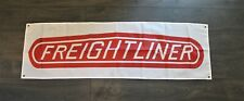 Freightliner Trucking Banner Sign 1.5 x 5 Flag Semi Trucks Trucker USA Shipper