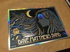 Dave Matthews Band 2019 Noblesville Todd Slater FOIL poster print S/N LE 50