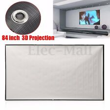 84 inch Foldable Projector Pull-Up Screen Home Projection Cinema 16:9  Theater
