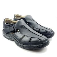 Timberland Altamont Fisherman Black Men's Leather Sandals 79059 Sz 13M Smart