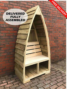 Boat Shaped/Gothic Single SeatGarden Bench Arbour