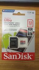 New SanDisk Class 10 Ultra 32GB 98MB/s Micro SD SDHC Memory Card w/ Adapter UK