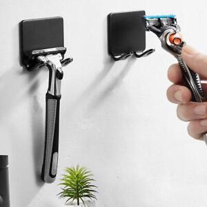 Shaving Shaver Shelf Stainless Steel Hook Hanger Storage Bracket Bathroom