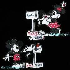 Disney Pin Set Classic *Mickey & Minnie* Mouse Mailbox Love Letters (2 Pins)!