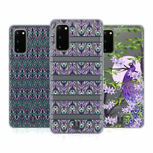 HEAD CASE DESIGNS PEACOCK COLLECTION SOFT GEL CASE FOR SAMSUNG PHONES 1