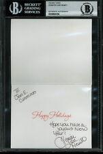 Jennifer Love Hewitt The Client List Signed 3.5x4.5 Holiday Card BAS Slabbed