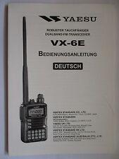 YAESU VX-6 E  BEDIENUNGSANLEITUNG  DEUTSCH / GERMAN  ORIGINAL  OPERATING  MANUAL