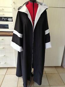 oversized black hooded cloak madam hooch style black and white