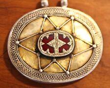 Antique Turkoman Medallion Snaked Border