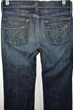 Seven 7 For All Mankind Dojo Boot Flare Women Size 26 Wide Leg Jeans Meas. 27x31