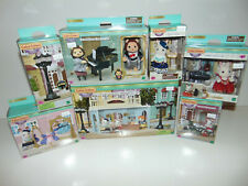 HUGE LOT CALICO CRITTERS TOWN CC3012 Restaurant Lamp/Tea/Cello/Poodle/Violin New